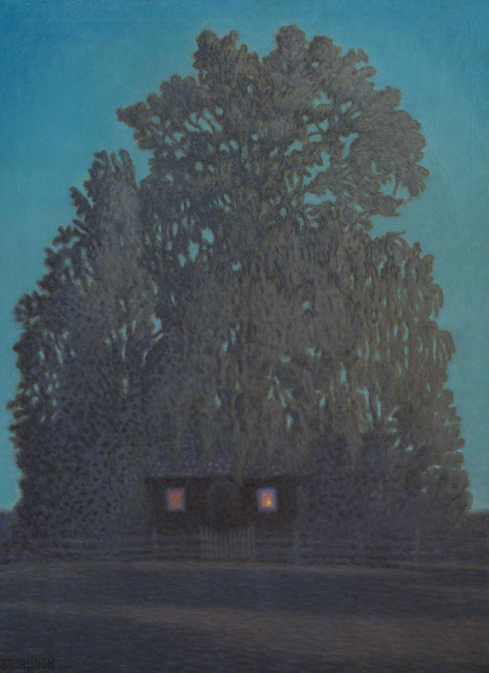 Oljemålning av Bror Lindh